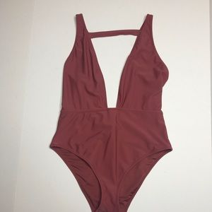 Forever 21 low cut one piece bathing suit